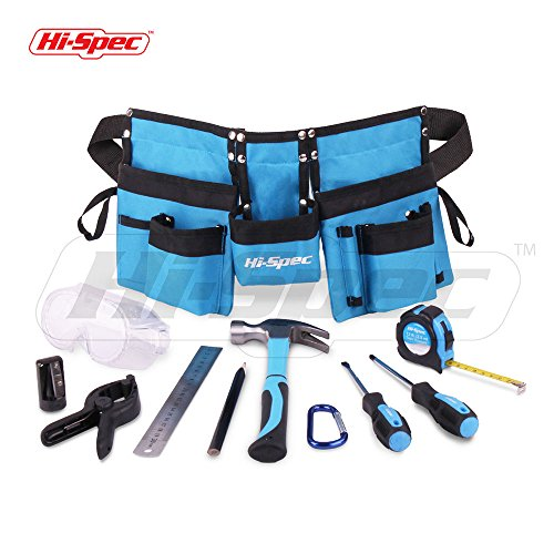Hi-Spec Tools Chrildrens Toolkits (15 pc Children's Tool Set and Tool Belt)