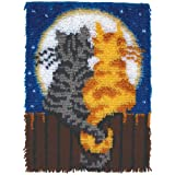 Patons Wonderart Moonlight Meow Latch Hook Kit, 15'' X 20''