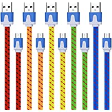 Micro Charging Charger, Magic-T [5-Pack] Extra long 10ft Fast Speed Charger Cable Cord for Android, Samsung Galaxy S7 S6 Edge, HTC M9, PS4 and More