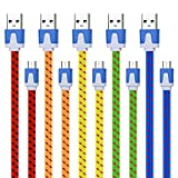 Magic-T 5 Pack Extra long Micro USB Cable 10ft Braided Android Charger Colorful USB to Micro USB Cable High Speed Charging Data Cord for Android,Samsung Galaxy S7 S6 Edge,Motorola,LG,HTC,PS4,Xbox-More