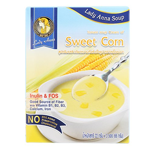Lady Anna, Instant Soup, Cream of Sweet Corn, net weight 66 g (Pack of 2 pieces) / 8eststore by KK