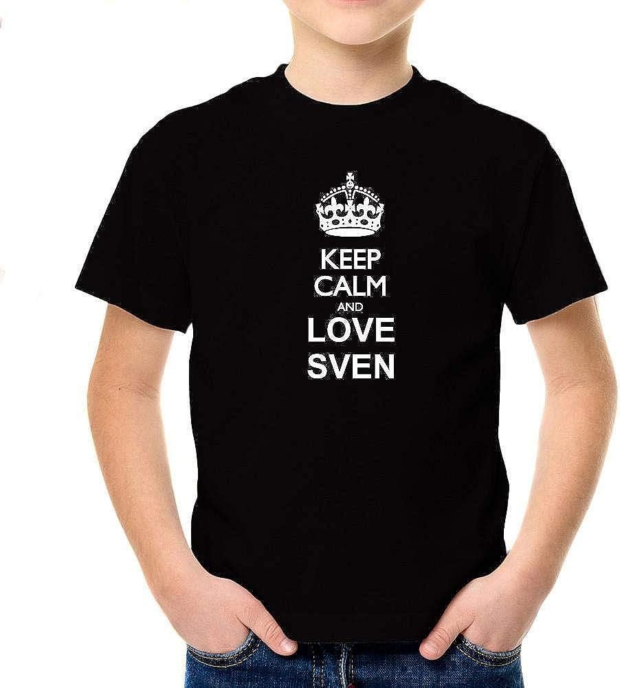 Idakoos Keep Calm and Love Sven Boy T-Shirt