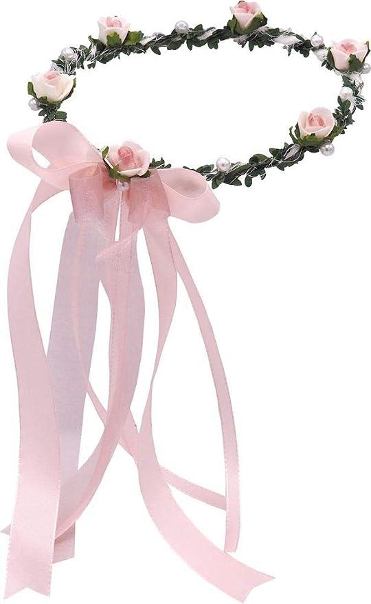 Haarband Mädchen 3-er Rose BLUME Blüte  Stirnband Baby Taufe Hochzeit Kommunion