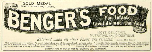 1895 Ad Antique Benger's Food Health Infant Baby Invalids Sick Aged Nutrition - Original Print Ad from PeriodPaper LLC-Collectible Original Print Archive