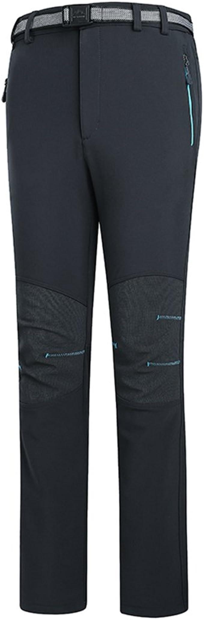 emansmoer Mujer Softshell Forro Polar Resistente al Viento Resistente al Agua Outdoor Sport Camping Senderismo Escalada Pantalones