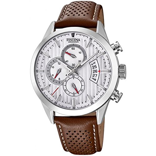 Men's Watch Festina - 20271/1 - Chronographe - Date - Leather Band by Festina