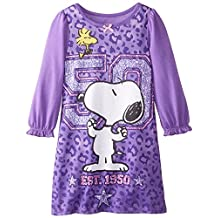 """Peanuts Snoopy """"Leopard Print"""" Toddler Girls Nightgown Sizes 2T-4T"""