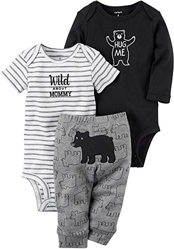 Carter's Baby Boys' 3 Piece Wild Bear Set 3 Months