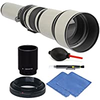 Bower 650-1300mm f/8-16 Telephoto Lens for Nikon D3000 D3400 D3300 D3200 + 2X Converter