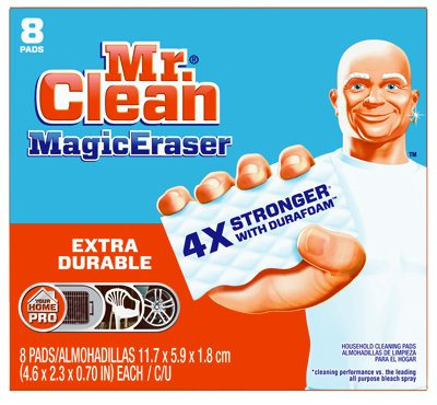 Mr Clean Extra Durable Scrubber and Cleaning Sponge Magic Eraser, 8 count per pack - 6 per case.