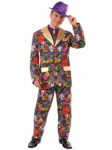 Ideas Mardi Costume Gras Male (Forum Novelties Men's Mardi Gras Suit and Tie Xl Costume, Multi,)