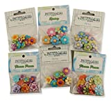 Buttons Galore FLOWERPOWERGROUP Flower Power Button Theme Pack - Set of 6