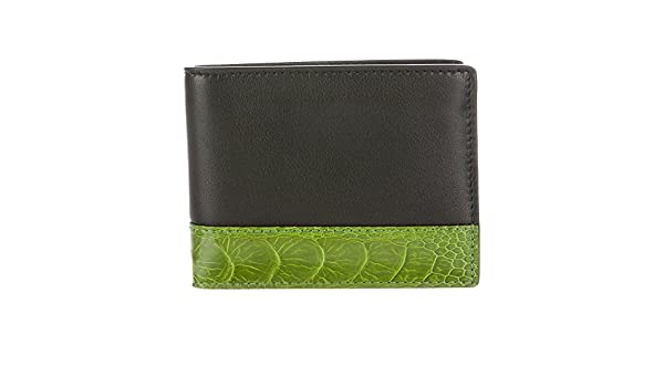 0d2fe8a3595 Gucci Men s Ostrich Claws Leather Bi-Fold Wallet 256418 1075 Black Green   Amazon.ca  Clothing   Accessories