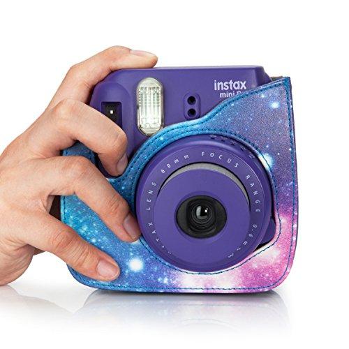 NodArtisan Compatible Mini 8 Camera Case Bag with Soft PU Leather Material for Fujifilm Instax Mini 8 8+ 9 Film Camera (Galaxy)