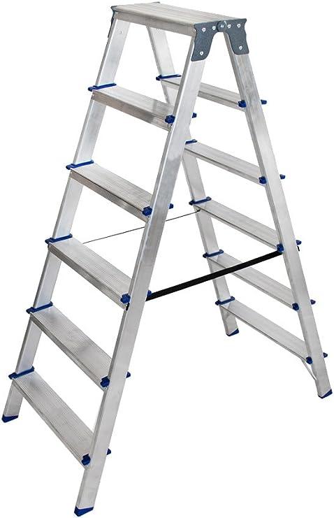 Arcama TD06 Escalera tijera, 6 x 2 peldaños: Amazon.es: Bricolaje y herramientas
