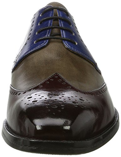 Hombre Blue Smoke Bordo Tobacco para 14 Zapatos Cordones Jeff Mehrfarbig de China Melvin Classic Derby amp;Hamilton Hrs Burgundy 67qB88