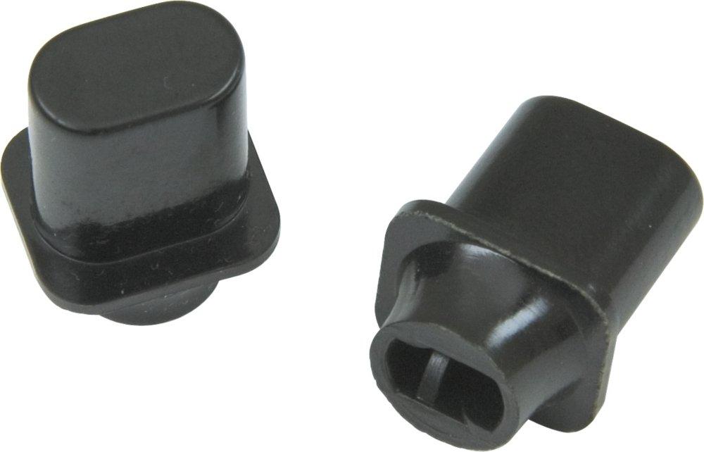 Fender Original Telecaster Top Hat Switch Tips (2),Black 143439