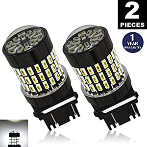 LUYED 2 X 900 Lumens Super Bright 3014 78-EX Chipsets 3056 3156 3057 3157 LED Bulbs,Xenon White
