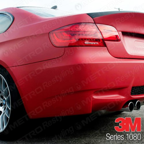 3m 1080 M13 Matte Red 3in X 5in Sample Size Car Wrap Vinyl Film
