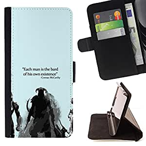 KingStore / Leather Etui en cuir / Sony Xperia Z2 D6502 / Bard Or Existence - Cormac Mccarthy - Dragonborn