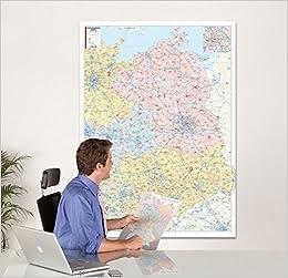 Postleitzahlen Karte Brandenburg.Bacher Postleitzahlenkarte Nord Ost Maßstab 1 350 000