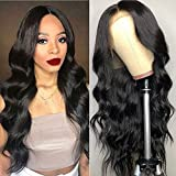 Maxine 360 Lace Frontal Wig Body Wave Brazilian Human Hair Wigs Pre-Plucked Hairline 130% Density Natural Color With Adjustable Straps 360 Lace Wig with Baby Hair 24 inch