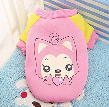 Unknown Autumn and Winter Cat Vest Clothes Puppy Chihuahua Coat for Dog Warm Coat Soft Cotton Pet -