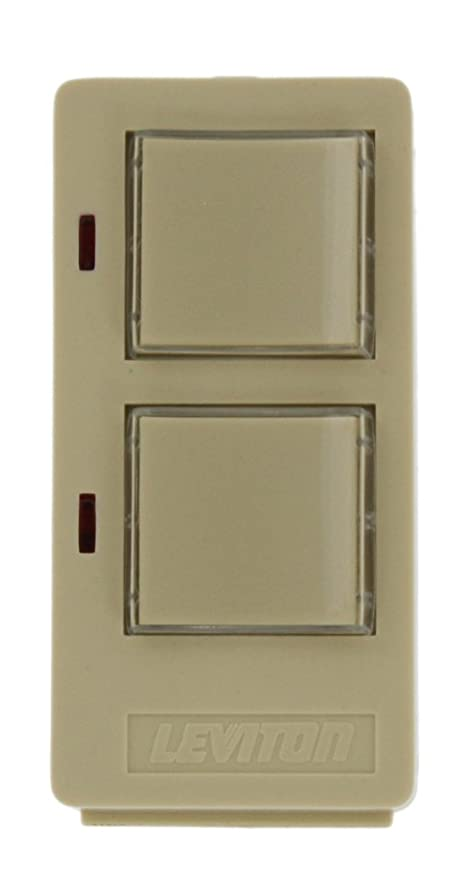 Leviton 16450-2 DHC 2 Button, 2 Address, On/Off Wall Mounted ...