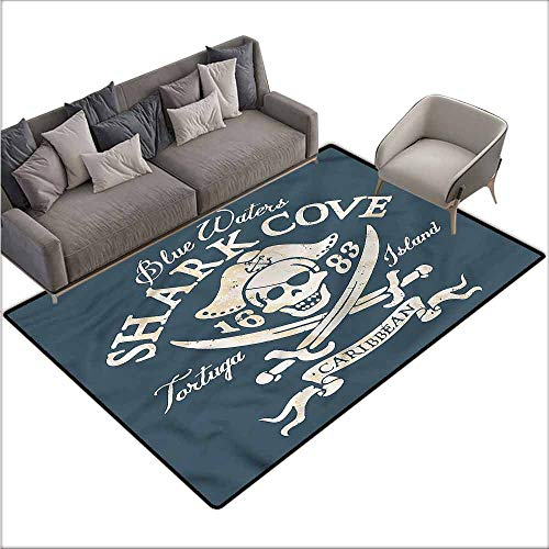 Long Kitchen Mat Bath Carpet Pirate,Shark Cove Tortuga