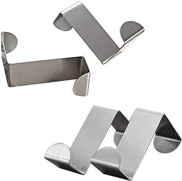 Over Door Hook Stainless Steel Reversible Cupboard Drawer Metal Hooks S Shape