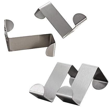 Amazon Mziart Pack Of 4 Stainless Steel Reversible Over Door