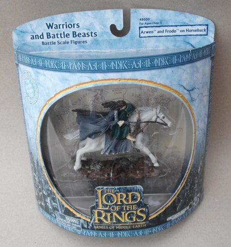 Lord of the Rings Armies of Middle Earth Arwen and Frodo on Horseback Figure 1/24 Scale]()