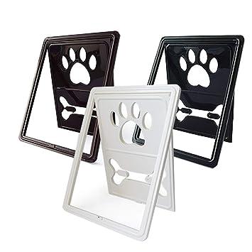 GXLO Pet Flap, Puerta Anti mosquitera para Perros y Gatos,Black,45.5x35.5x2cm: Amazon.es: Deportes y aire libre