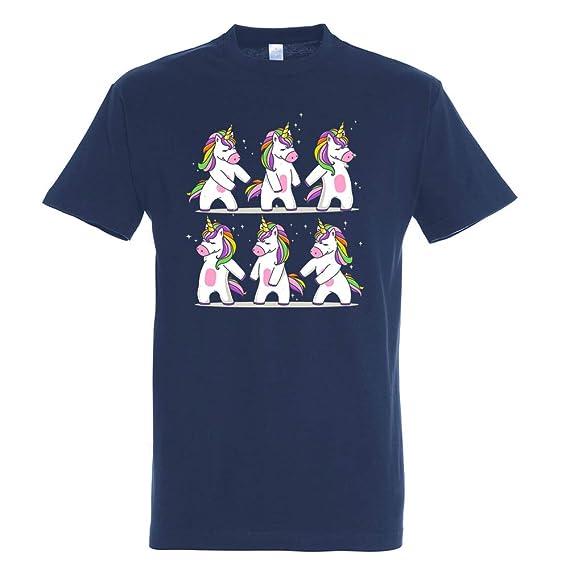 Pampling Camiseta Fnite Unicorn Challenge - Unicornio - Fortnite - Color Azul Marino - 100% Algodón - Serigrafía: Amazon.es: Ropa y accesorios