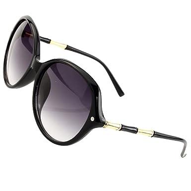 fc6c9af378 Sumery Retro Vintage Unisex Oval Lens Sunglasses Brand Arm design Sun  Glasses Women Men Unisex (