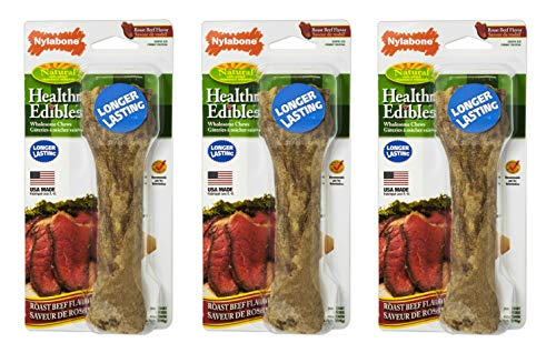 Nylabone Healthy Edibles Roast Beef Dog Treat [Set of 3] Size: Souper