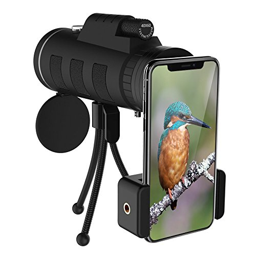 Monocular Telescopes, 12X50 High Night Vision Waterproof Spotting Scopes for Adults with Phone Clip and Tripod for Cell Phone-for Bird Watching,Hunting,Camping,Hiking,Outdoor,Surveillance by Acsin