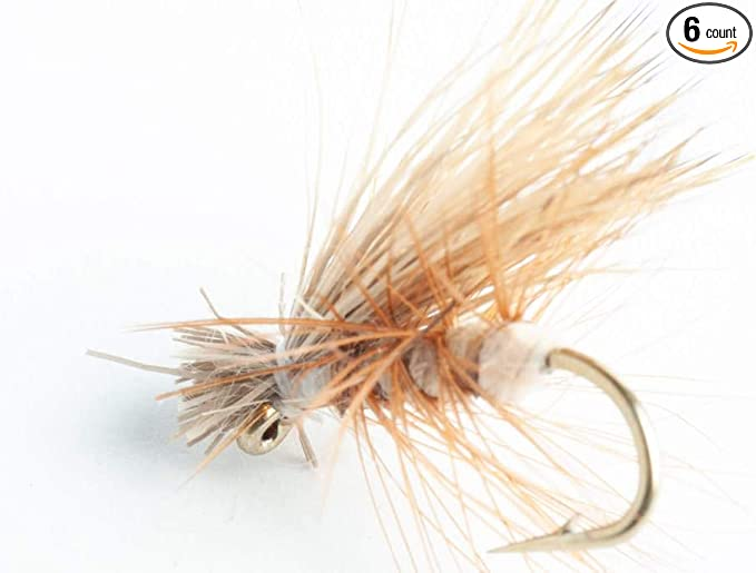 Elk Hair Caddis Brown 1 Dozen trout fly dry fly 12