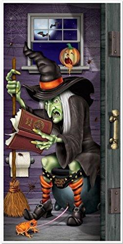NEW Halloween Party Prop Witch Bathroom Restroom Wall Door Cover -