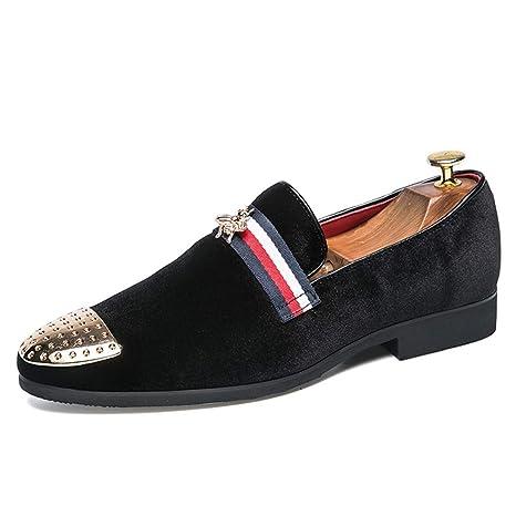 YAN Zapatos de Vestir para Hombre Cuero Artificial/Primavera Mocasines británicos y Slip-Ons
