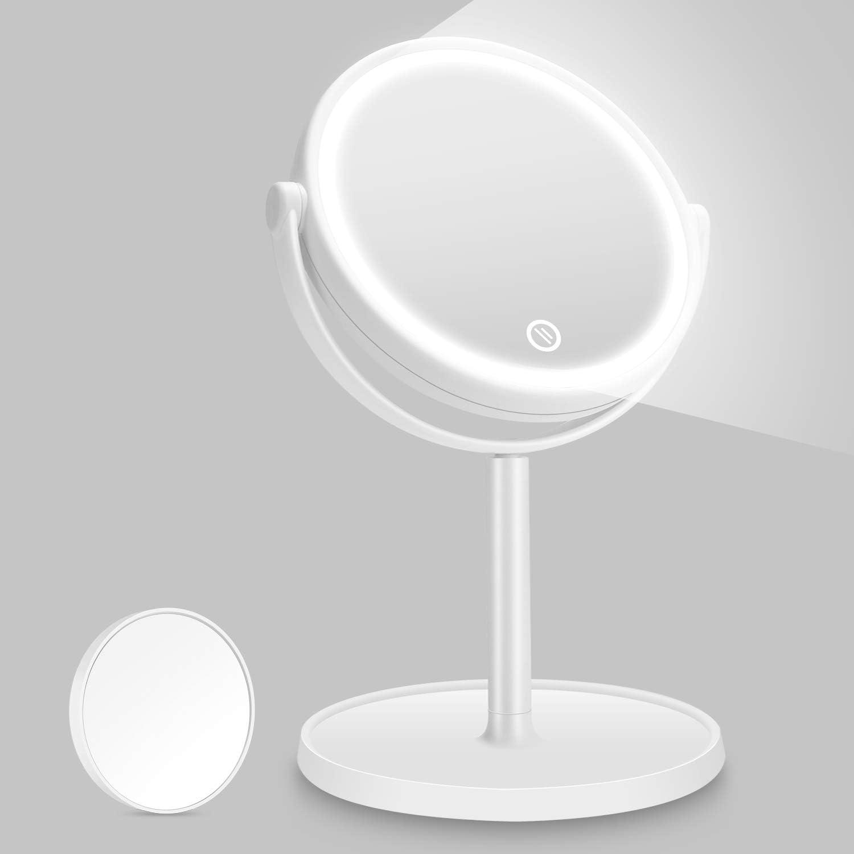32 LED Luz Iluminación de Mesa Regulable Maquillaje Anillo Con Espejo Cosmético