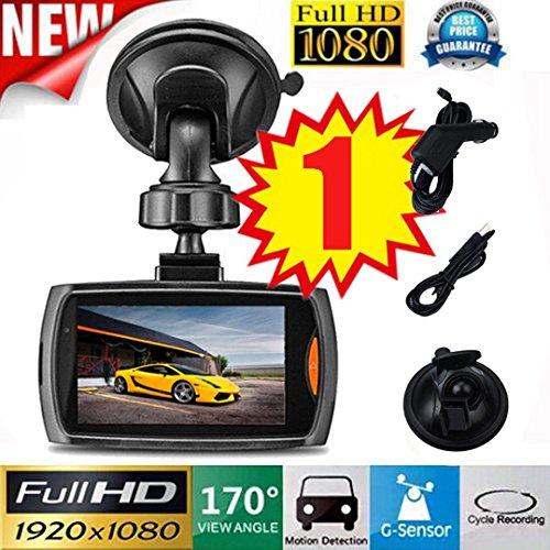 Vehicle Camera DVR, Ikevan 1x Car 1080P 2.2'' Full HD DVR Vehicle Camera Dash Cam Video Recorder G-sensor Night Vision (B 2.4 Inch) by Ikevan