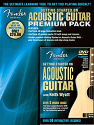 Hal Leonard Fender Presents Getting Started On Acoustic Guitar Premium Pack Book/CD/DVD