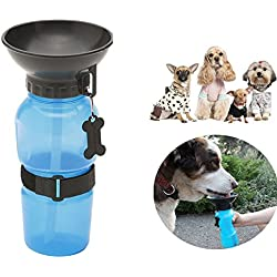 Besplore Travel Water Bowl,Water Bottle for Dog and Cats,Blue