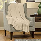 quilted throw polyester - Madison Park Tuscany Oversized Quilted Throw with Scalloped Edges, 60 by 72