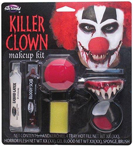 Killer Clown Makeup Kit Costume (Clown Costumes Kit)