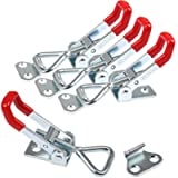 4 Pcs Toggle Catch Latches Adjustable Cabinet Boxes Case Chest Catches Metal Toggle Clamp Latch Hasp Heavy Duty 100KG…
