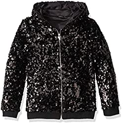 Girl's Long Sleeve Zip Up Sequin Hoodie
