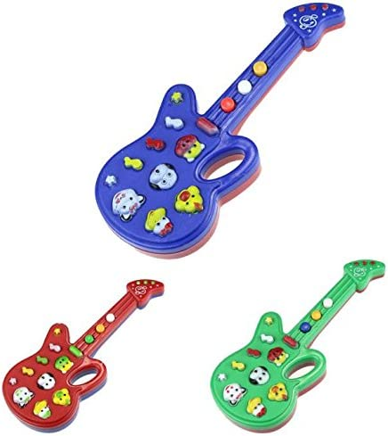 JIUZHOU - Guitarra electrónica de Juguete para niños: Amazon.es: Hogar