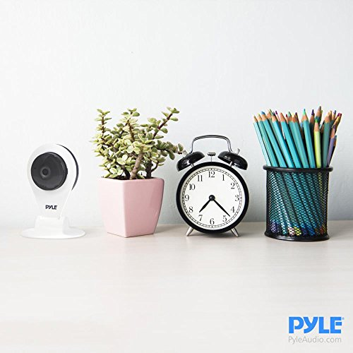Indoor Wireless Security IP Camera - HD720p Home WiFi Remote Video Monitor w/Motion Detection and Night Vision - Network Surveillance, Voice Mic Audio for Mobile, Windows & Mac - Pyle PIPCAMHD22WT by Pyle (Image #3)